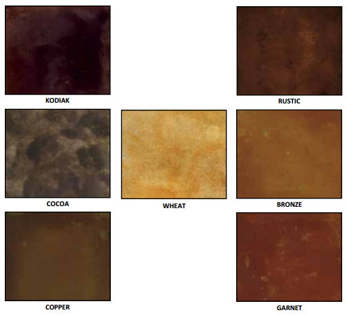 Acid Stain Color Chart - A