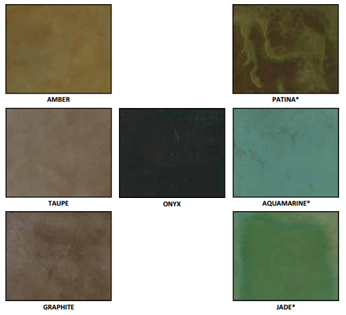 Acid Stain Color Chart - B